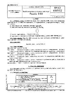 Środki pomocnicze do tworzyw sztucznych - Pianofor B-80 BN-63/6065-02
