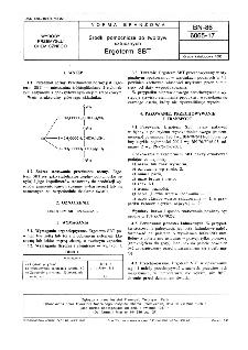 Środki pomocnicze do tworzyw sztucznych - Ergoterm SBT BN-86/6065-17