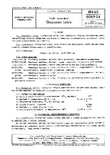 Środki pomocnicze - Stearynian butylu BN-65/6069-04