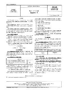 Środki pomocnicze - Sapomir K BN-68/6069-08