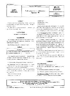 Środki pomocnicze dla włóknictwa - Spumol W BN-79/6069-09