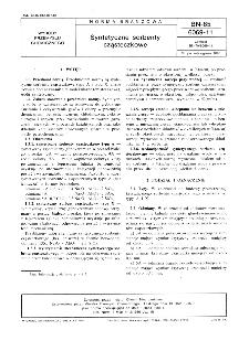 Syntetyczne sorbenty cząsteczkowe BN-85/6069-11