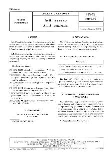 Środki pomocnicze - Alpol koncentrat BN-72/6069-19