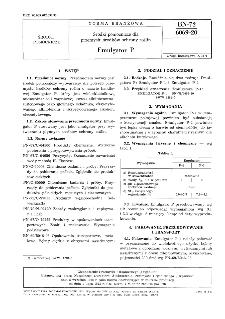 Środki pomocnicze dla przemysłu środków ochrony roślin - Emulgator P BN-72/6069-20