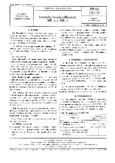 Kationity fenolosulfonowe MK 2 i MK 3 BN-68/6214-01