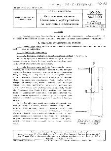 Kleje kauczukowe obuwnicze - Oznaczanie wytrzymałości na ścinanie i oddzieranie BN-66/6033-03