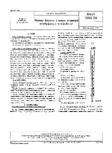 Metody badania i oceny własności emulgujących emulgatorów BN-69/6060-03
