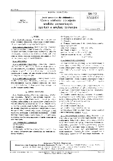 Środki pomocnicze dla włókiennictwa - Ocena zdolności odklejania środków pomocniczych opartych o amylazy bakteryjne BN-73/6060-04