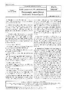 Środki pomocnicze dla włókiennictwa - Oznaczanie spieralności natłustek bezwodnych BN-74/6060-08