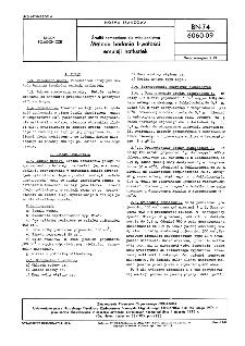 Środki pomocnicze dla włókiennictwa - Metoda badania trwałości emulsji natłustek BN-74/6060-09