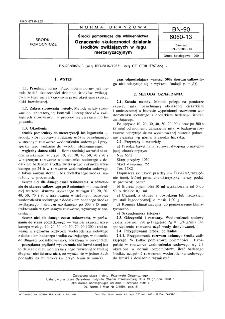 Środki pomocnicze dla włókiennictwa - Oznaczanie skuteczności działania środków zwilżających w ługu merceryzacyjnym BN-90/6060-13