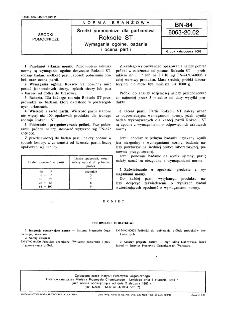 Środki pomocnicze dla garbarstwa - Roksole ST - Wymagania ogólne, badania i ocena partii BN-84/6063-20.02