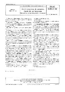 Środki pomocnicze dla garbarstwa - Garbniki syntetyczne - Pakowanie, przechowywanie i transport BN-85/6063-21/02