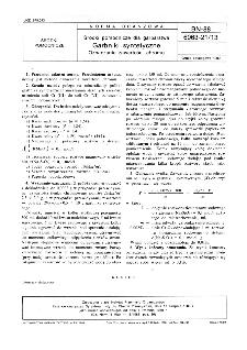 Środki pomocnicze dla garbarstwa - Garbniki syntetyczne - Oznaczanie zawartości chromu BN-88/6063-21/13