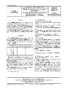Środki pomocnicze dla przemysłu gumowego - Dinitrozopentametylenotetramina - Metody badań, pakowanie, przechowywanie i transport BN-90/6064-17