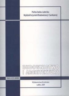 Budownictwo i Architektura Vol. 4(1)2009