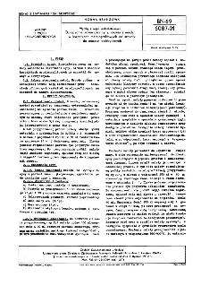 Wyroby z węgli uszlachetnionych - Oznaczanie zawartości cyny, ołowiu i miedzi w kształtkach metalografitowych na szczotki do maszyn elektrycznych BN-69/6087-01