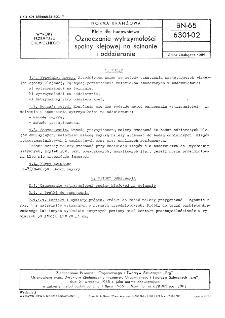 Kleje dla budownictwa - Oznaczanie wytrzymałości spoiny klejowej na ścinanie i oddzieranie BN-65/6301-02