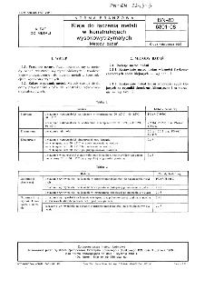 Kleje do łączenia metali w konstrukcjach wysokowytrzymałych - Metody badań BN-80/6301-08