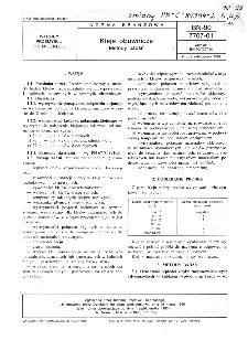 Kleje obuwnicze - Metody badań BN-90/7707-01