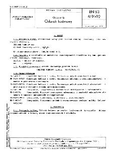 Odczynniki - Chlorek kadmowy BN-63/6191-02