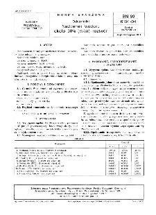 Odczynniki - Nadtlenek wodoru około 30% (m/m) roztwór BN-89/6191-04,