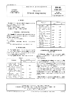 Odczynniki - Chlorek magnezowy BN-88/6191-06