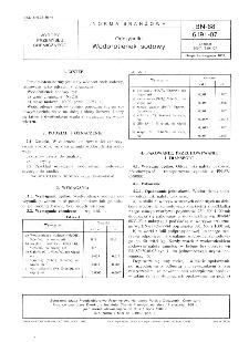 Odczynniki - Wodorotlenek sodowy BN-88/6191-07