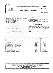 Odczynniki - Octan sodowy bezwodny BN-90/6191-26