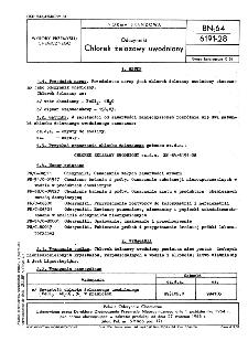 Odczynniki - Chlorek żelazawy uwodniony BN-64/6191-28