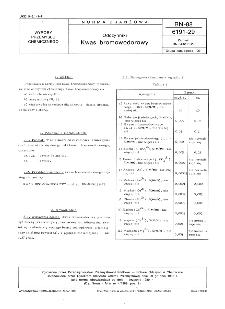 Odczynniki - Kwas bromowowodorowy BN-88/6191-29