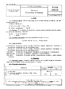 Odczynniki - Chromian amonowy BN-64/6191-31