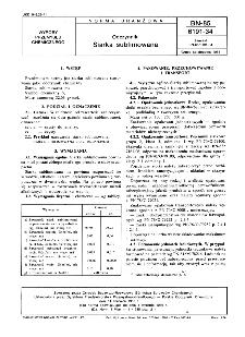 Odczynniki - Siarka sublimowana BN-85/6191-34
