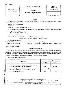 Odczynniki - Siarka krystaliczna BN-65/6191-35