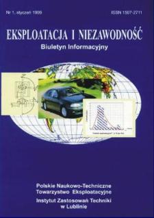 Eksploatacja i Niezawodność = Maintenance and Reliability 1/1999