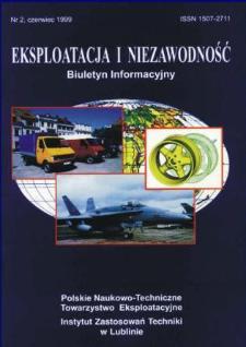 Eksploatacja i Niezawodność = Maintenance and Reliability 2/1999
