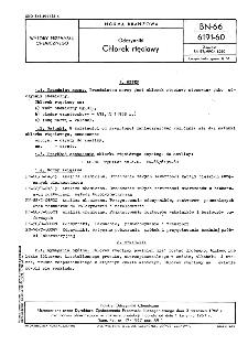 Odczynniki - Chlorek rtęciowy BN-66/6191-60