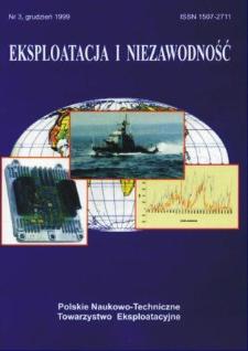 Eksploatacja i Niezawodność = Maintenance and Reliability 3/1999