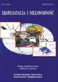 Eksploatacja i Niezawodność = Maintenance and Reliability 4/2000