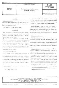 Płyty paździerzowe uszlachetnione - Metody badań BN-83/7124-05.14