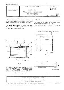Emalie szkliste - Oznaczanie odporności na detergenty BN-77/4027-15