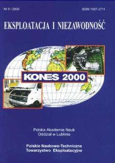 Eksploatacja i Niezawodność = Maintenance and Reliability 5/2000