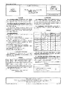 Wyroby z węgli uszlachetnionych - Węgiel aktywny Carbopol W BN-69/6081-04