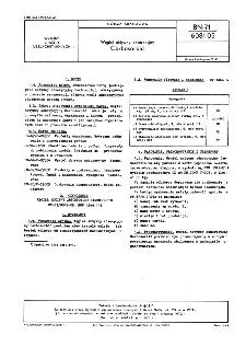 Węgiel aktywny adsorpcyjny - Carbosorbid BN-71/6081-05