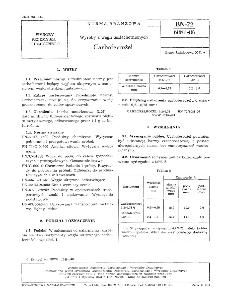 Wyroby z węgli uszlachetnionych - Carboferrożel BN-72/6081-06
