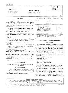 Węgiel aktywny - Carbopol WS BN-72/6081-07