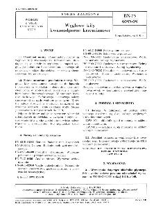 Węglowe kity kwasoodporne krzemianowe BN-73/6083-08