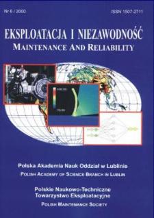 Eksploatacja i Niezawodność = Maintenance and Reliability 6/2000