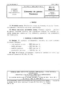 Elementy do pieców Tammana BN-75/6089-01