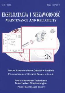 Eksploatacja i Niezawodność = Maintenance and Reliability 7/2000